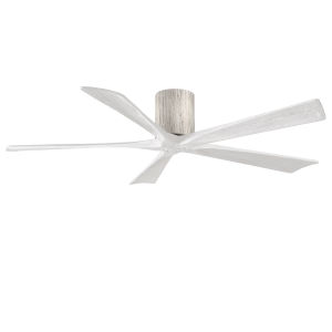Irene-5H Barnwood and Matte White 60-Inch Outdoor Ceiling Fan