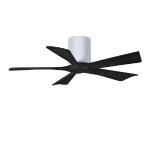 Irene-5H Gloss White and Matte Black 42-Inch Outdoor Ceiling Fan