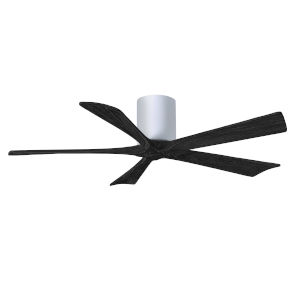 Irene-5H Gloss White and Matte Black 52-Inch Outdoor Ceiling Fan