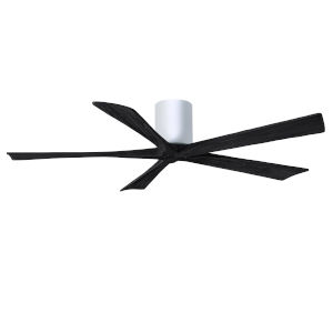 Irene-5H Gloss White and Matte Black 60-Inch Outdoor Ceiling Fan