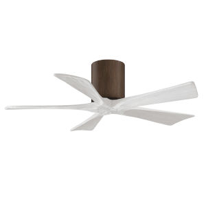 Irene-5H Walnut and Matte White 42-Inch Outdoor Ceiling Fan