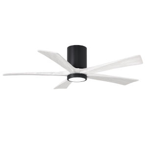 Irene-5HLK Matte Black and Matte White 52-Inch Ceiling Fan with LED Light Kit