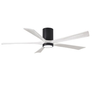 Irene-5HLK Matte Black and Matte White 60-Inch Ceiling Fan with LED Light Kit