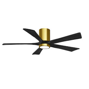 Irene-5HLK Brushed Brass and Matte Black 42-Inch Ceiling Fan with LED Light Kit