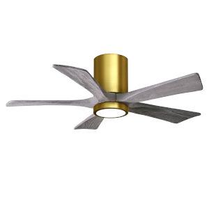 Irene-5HLK Brushed Brass and Barnwood 42-Inch Ceiling Fan with LED Light Kit