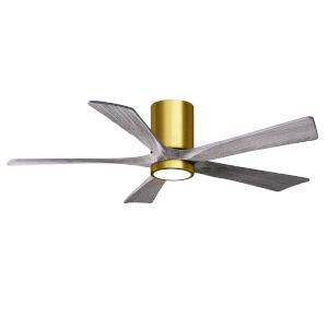 Irene-5HLK Brushed Brass and Barnwood 52-Inch Ceiling Fan with LED Light Kit