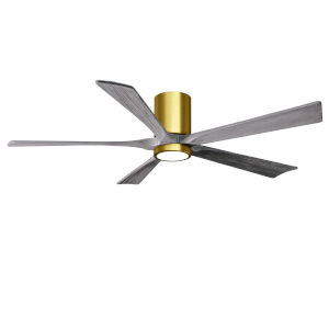 Irene-5HLK Brushed Brass and Barnwood 60-Inch Ceiling Fan with LED Light Kit