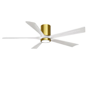 Irene-5HLK Brushed Brass and Matte White 60-Inch Ceiling Fan with LED Light Kit