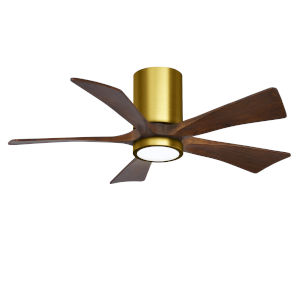 Irene-5HLK Brushed Brass and Walnut 42-Inch Ceiling Fan with LED Light Kit