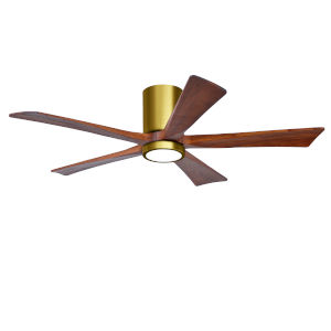 Irene-5HLK Brushed Brass and Walnut 52-Inch Ceiling Fan with LED Light Kit
