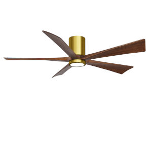 Irene-5HLK Brushed Brass and Walnut 60-Inch Ceiling Fan with LED Light Kit