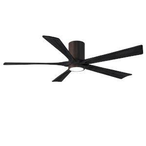 Irene-5HLK Textured Bronze and Matte Black 60-Inch Ceiling Fan with LED Light Kit