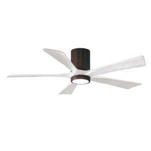 Irene-5HLK Textured Bronze and Matte White 52-Inch Ceiling Fan with LED Light Kit