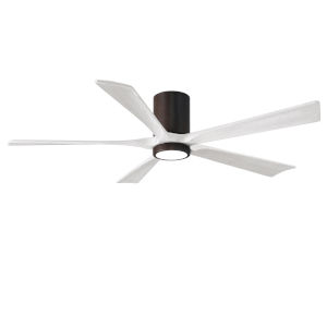 Irene-5HLK Textured Bronze and Matte White 60-Inch Ceiling Fan with LED Light Kit