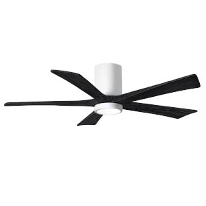 Irene-5HLK Gloss White and Matte Black 52-Inch Ceiling Fan with LED Light Kit