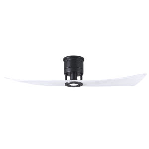 Lindsay Matte Black and Matte White 52-Inch Ceiling Fan with LED Light Kit