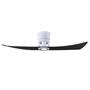 Lindsay Matte White and Matte Black 52-Inch Ceiling Fan with LED Light Kit