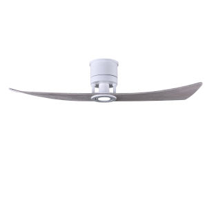 Lindsay Matte White 52-Inch Ceiling Fan with LED Light Kit and Barnwood Blades
