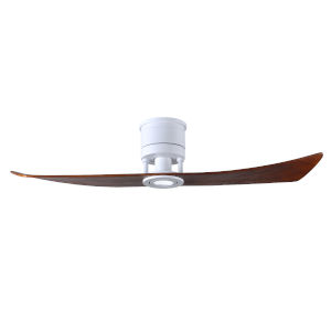 Lindsay Matte White and Walnut 52-Inch Ceiling Fan with LED Light Kit