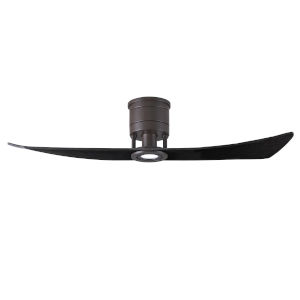 Lindsay Textured Bronze and Matte Black 52-Inch Ceiling Fan with LED Light Kit