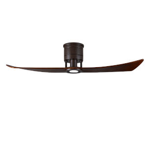 Lindsay Textured Bronze 52-Inch Ceiling Fan with LED Light Kit and Walnut Blades