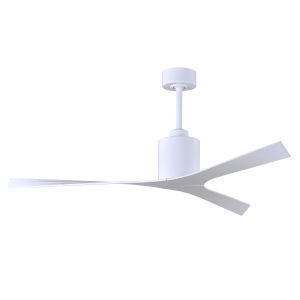 Molly Gloss White 56-Inch Ceiling Fan with Gloss White Blades