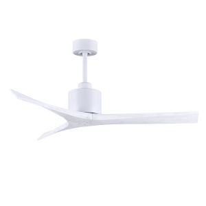Mollywood Matte White 52-Inch Outdoor Ceiling Fan