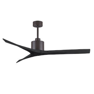 Mollywood Textured Bronze and Matte Black 60-Inch Outdoor Ceiling Fan