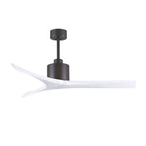 Mollywood Textured Bronze and Matte White 52-Inch Outdoor Ceiling Fan