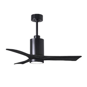 Patricia-3 Matte Black 42-Inch Ceiling Fan with LED Light Kit