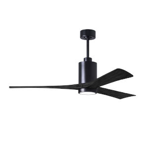 Patricia-3 Matte Black 60-Inch Ceiling Fan with LED Light Kit