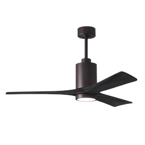 Patricia-3 Textured Bronze and Matte Black 52-Inch Ceiling Fan with LED Light Kit
