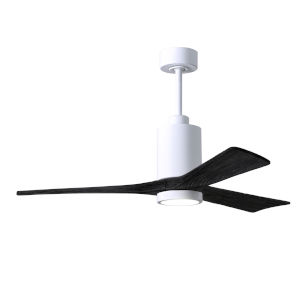 Patricia-3 Gloss White and Matte Black 52-Inch Ceiling Fan with LED Light Kit