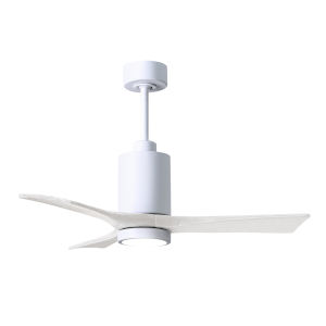 Patricia-3 Gloss White 42-Inch Ceiling Fan with LED Light Kit