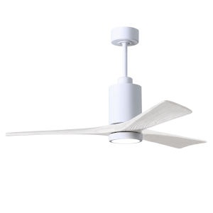 Patricia-3 Gloss White 52-Inch Ceiling Fan with LED Light Kit