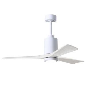 Patricia-3 Gloss White 60-Inch Ceiling Fan with LED Light Kit