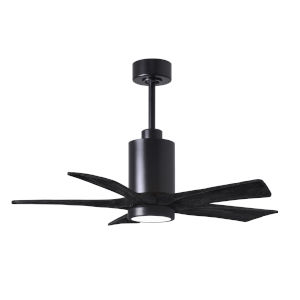 Patricia-5 Matte Black 42-Inch Ceiling Fan with LED Light Kit