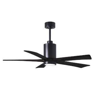Patricia-5 Matte Black 52-Inch Ceiling Fan with LED Light Kit