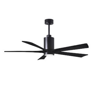 Patricia-5 Matte Black 60-Inch Ceiling Fan with LED Light Kit
