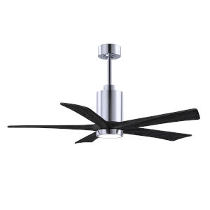 Patricia-5 Polished Chrome and Matte Black 52-Inch Ceiling Fan with LED Light Kit