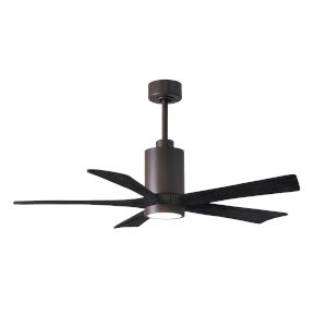 Patricia-5 Textured Bronze and Matte Black 52-Inch Ceiling Fan with LED Light Kit