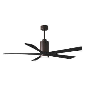 Patricia-5 Textured Bronze and Matte Black 60-Inch Ceiling Fan with LED Light Kit