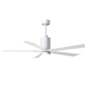 Patricia-5 Gloss White 60-Inch Ceiling Fan with LED Light Kit