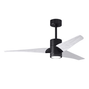 Super Janet Matte Black and Matte White 52-Inch Ceiling Fan with LED Light Kit