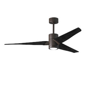 Super Janet Textured Bronze and Matte Black 60-Inch Ceiling Fan with LED Light Kit
