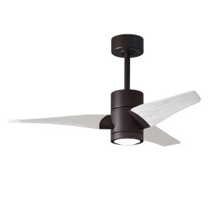 Super Janet Textured Bronze and Matte White 42-Inch Ceiling Fan with LED Light Kit