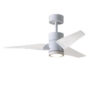 Super Janet Gloss White 42-Inch Ceiling Fan with LED Light Kit