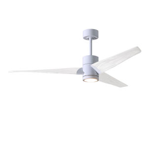 Super Janet Gloss White 52-Inch Ceiling Fan with LED Light Kit