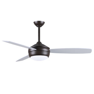 T-24 Textured Bronze 52-Inch LED Ceiling Fan with Brushed Nickel Blades