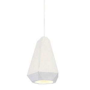 Portland White Plaster One-Light Mini-Pendant
